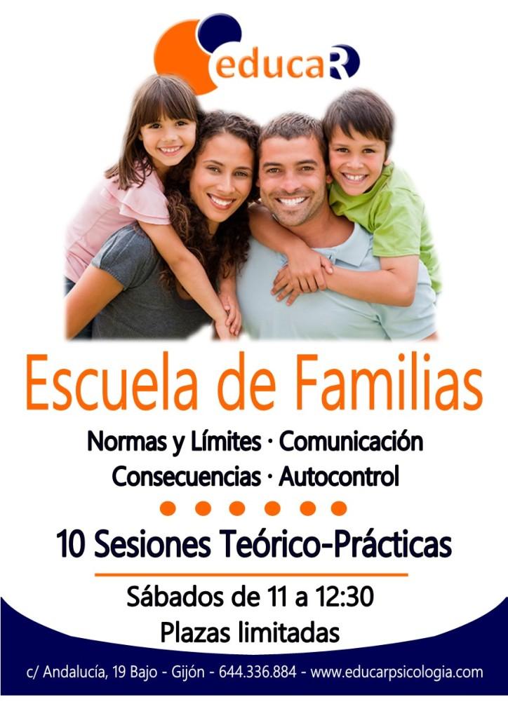 Cartel escuela familias